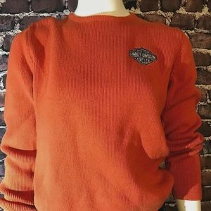 Harley Davidson knitted orange size small sweater
